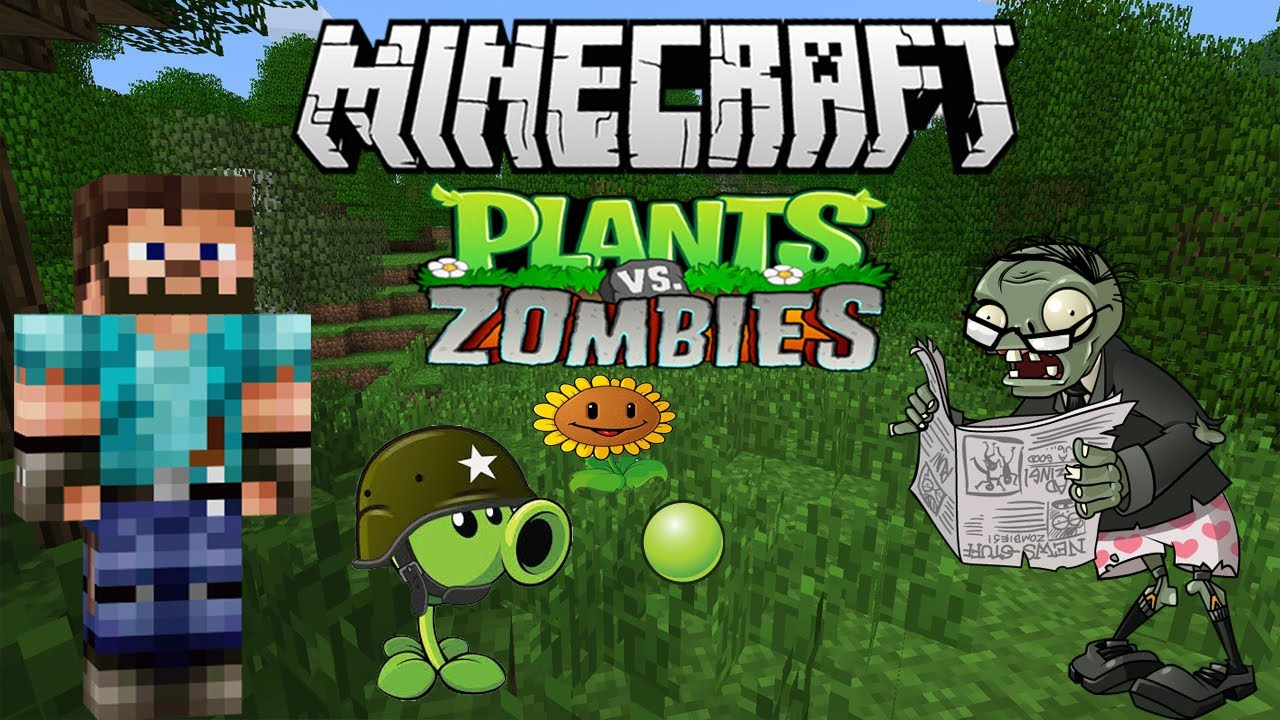 minecraft mapa de plantas vs zombies mini juego youtube