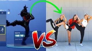 ULTIMATE  FORTNITE DANCE CHALLENGE in Real life! (ft. Kamri Noel)