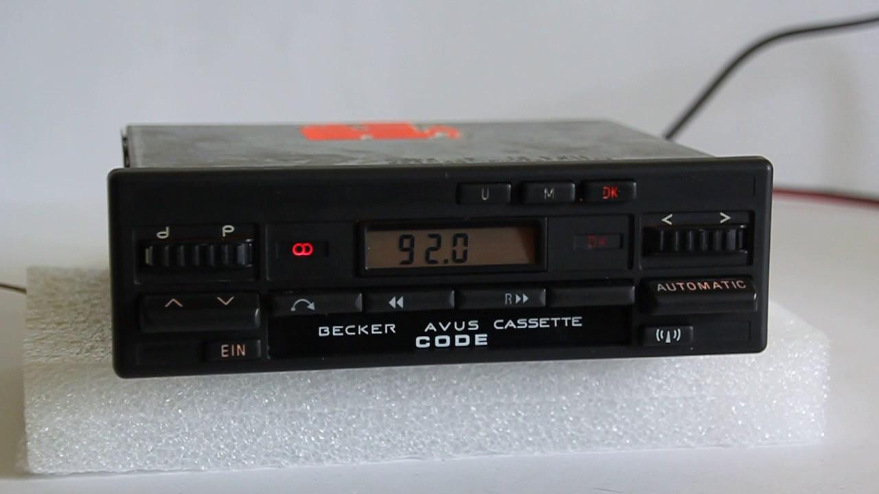 Becker AVUS BE0778 MP3 Bluetooth Upgraded