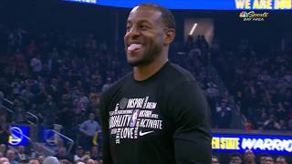 Warriors Honor Andre Andre Iguodala With Tribute Video In His Return To Golden State