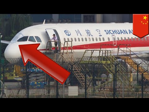 Sichuan Airlines co-pilot sucked halfway out of cockpit - TomoNews