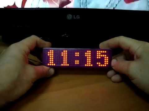 🕓 Часы термометр на MAX7219 + радио датчик температуры.