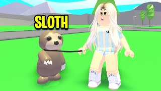 I Adopted A BABY Sloth For POKE! (Roblox Adopt Me)