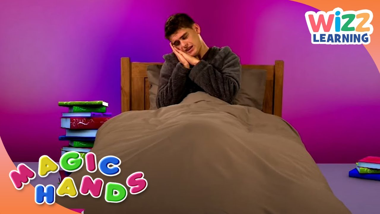 I Don't Want To Go To Bed | Magic Hands | British Sign Language | Wizz Learning