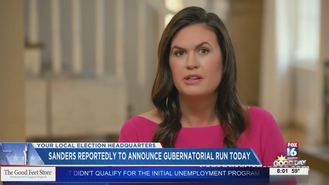 Sarah Huckabee Sanders: 'Today, I announce my candidacy for ...