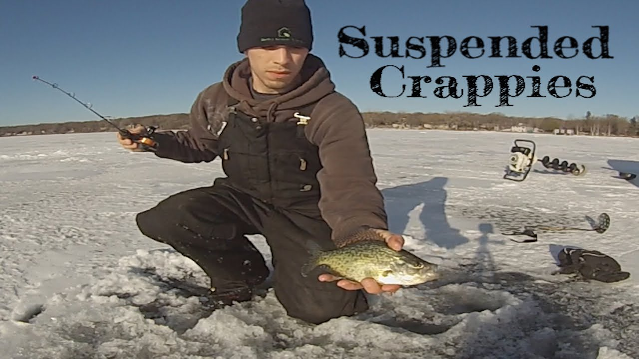 minnesota ice fishing 2015 suspended crappies youtube