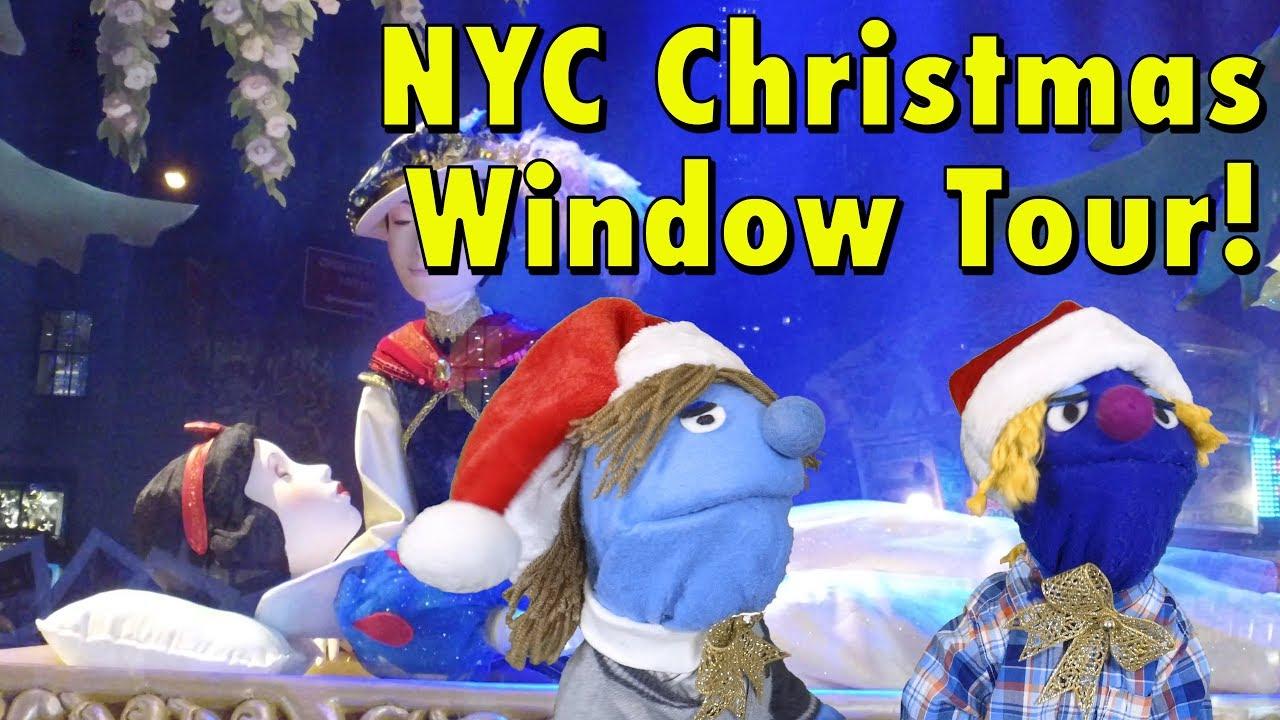 New York City Christmas Window Tour 2017 Snow White Macys Saks Lord ...