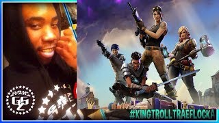 Fortnite *Unlimited Health Glitch* Trolling w/ DeadG0rre! Falling Off Edge Of The Map