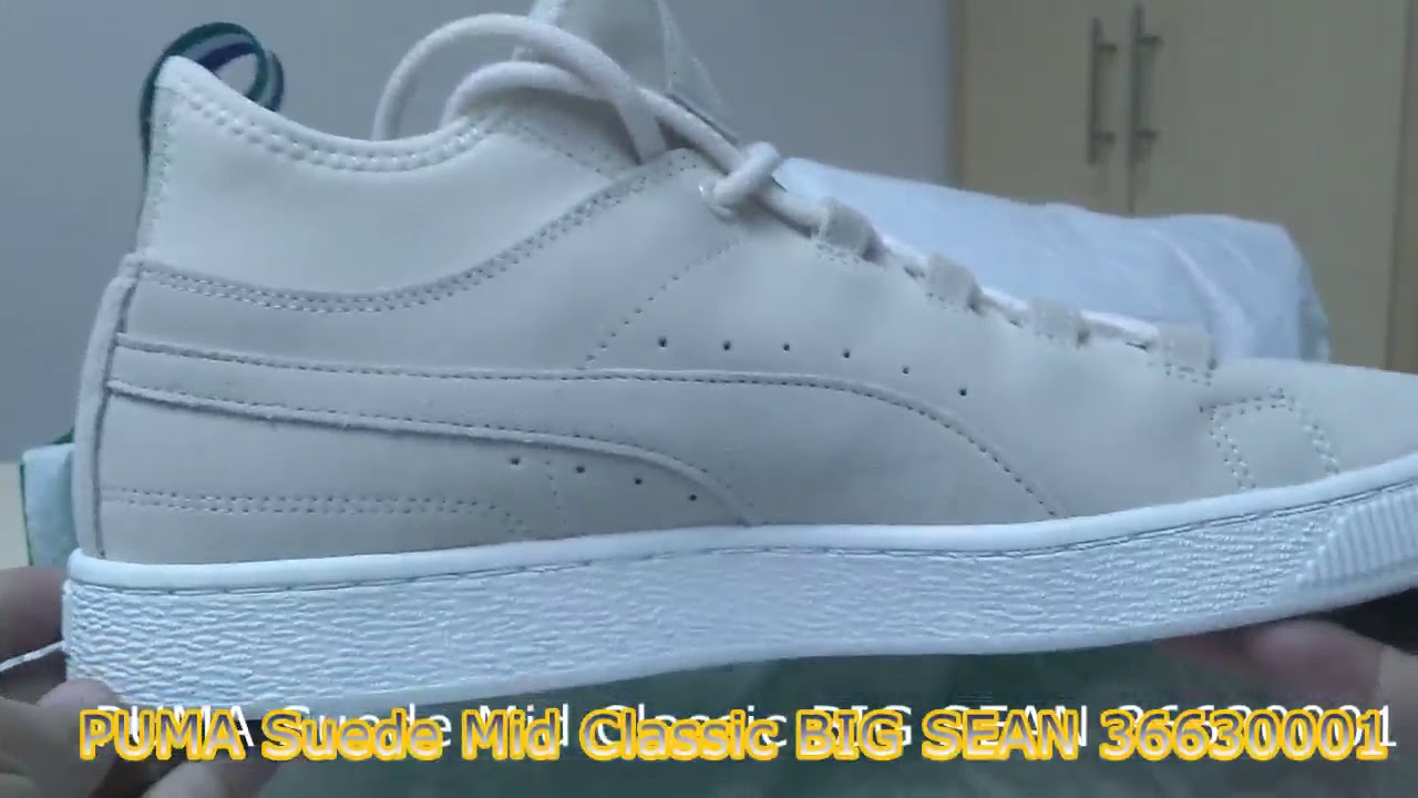 save off d2108 51995 Unboxing Review sneakers PUMA Suede Mid Classic BIG SEAN 36630001