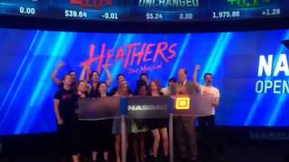 #HeathersMusical rings the NASDAQ Opening Bell