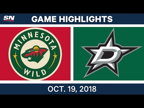 NHL Highlights | Wild vs. Stars - Oct. 19, 2018