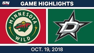 NHL Highlights | Wild vs. Stars - Oct. 19, 2018