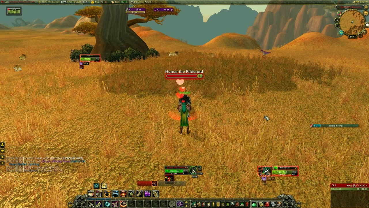 Wow Pet Humar The Pridelord Rare Northern Barrens Youtube
