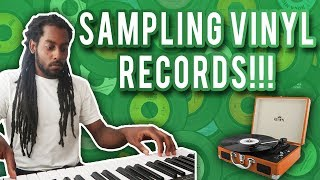 Making a Beat Sampling VINYL RECORDS | Making a Trap Beat in Logic Pro X From Scratch