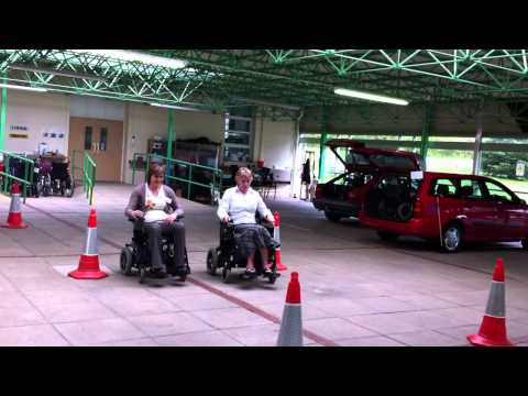 On Board Training Driving Instructor Judy Hale - Relaxed Fun at QEF Mobility Centre