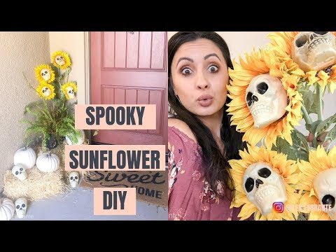 DIY Halloween Decoration Ideas | Easy Halloween Crafts | Spooky Sunflower DIY