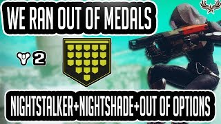 We Ran Out Of Medals Destiny 2 : Survivability