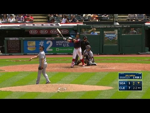 SEA@CLE: Brantley crushes two-run home run to right