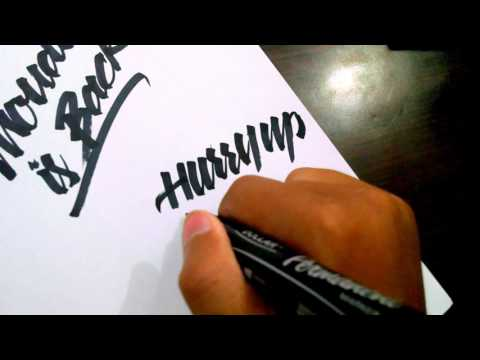 How to use regular marker to write modern brush calligraphy