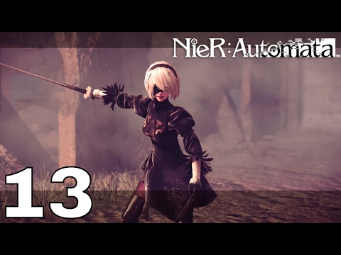 Nier: Automata - Part 13 - Resistance Camp Attack & Electric Machine Sphere Boss with No Commentary