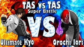 Ultimate Kyo VS Orochi Iori  (TAS vs TAS) Super Battle