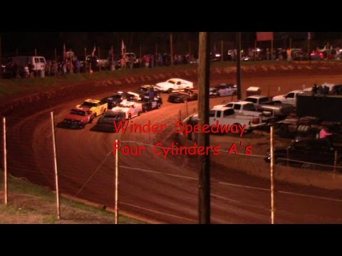 Winder Barrow Speedway Stock Four Cylinders A's 3/25/17