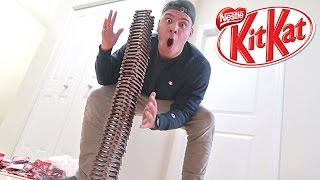 100 LAYERS OF KIT KATS CHALLENGE!! (WORLD RECORD)