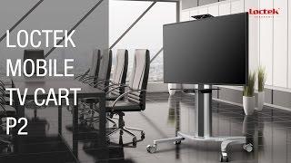 Loctek P2 Mobile TV Cart for 32''-70'' LCD LED Plasma Flat Panels Stand Mobile