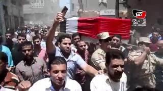 تشييع جثمان محمود عادل شهيد تفجير العريش من مسقط رأسه بالدقهلية
