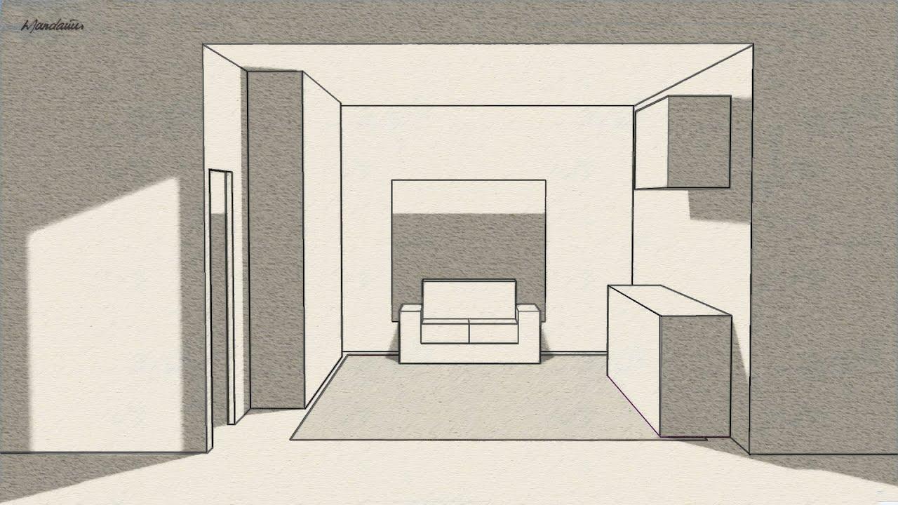 Desenhar Casas Perspectiva Com Um Ponto De Fuga One Point Perspective