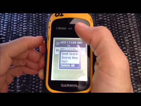 Garmin eTrex10 GPS - Deleting tracks, waypoints, and routes