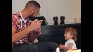 كريم بنزيما و أبنتة رؤؤؤؤؤعة