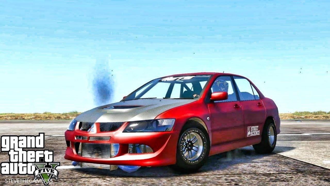 GTA 5 REAL LIFE MOD #649 - 1200HP EVO'S VS DRAG SUPRA (GTA 5 REAL LIFE MODS)