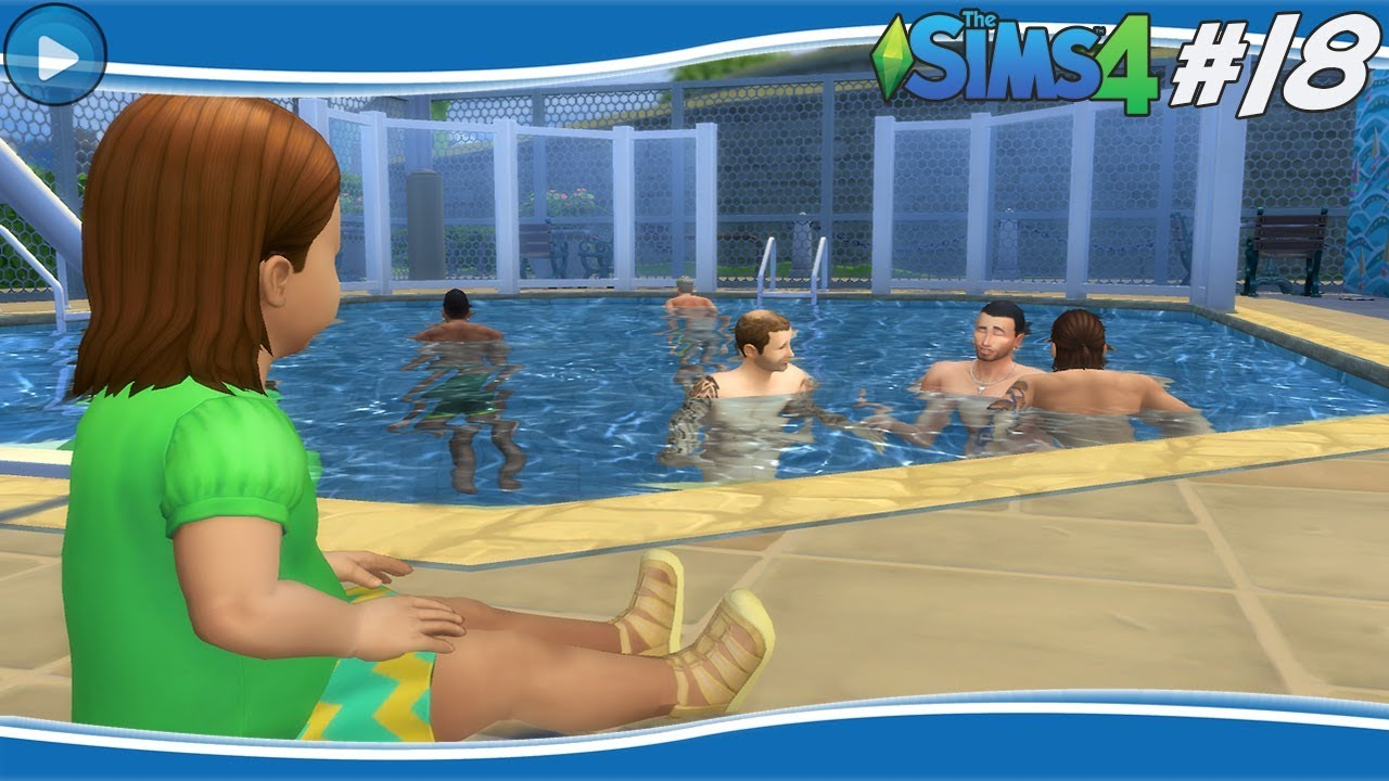 4 Gang Zwembad Zwembad In Pretpark Sims 4 18