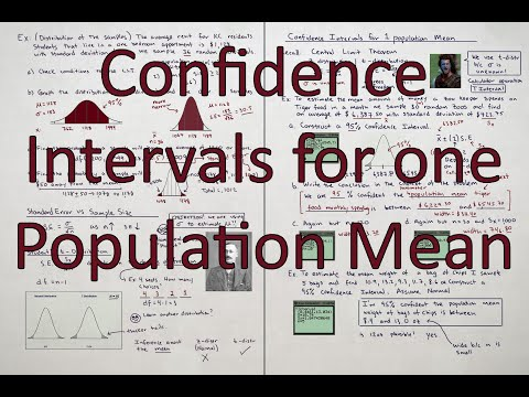 Finding confidence Intervals for one population mean
