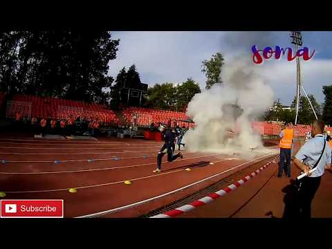 UKRAINE vs. RUSSIA / RUNNING 4X100m OBSTACLES / WORLD CHAMPIONSHIP FIRE SPORT 2018 /  SLOVAKIA