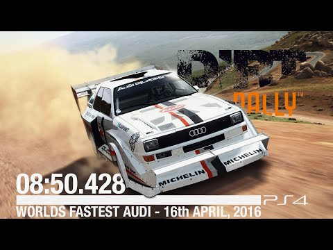[PS4-60FPS] Dirt Rally - Road to Records | PikesPeak Gravel | Audi Sport Quattro S1 PP | 08:50:428