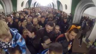 Давка в метро на ВДНХ, все идут на Световое шоу