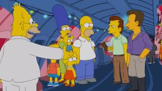 Homer and Abe meet the guy from Ticketmaster