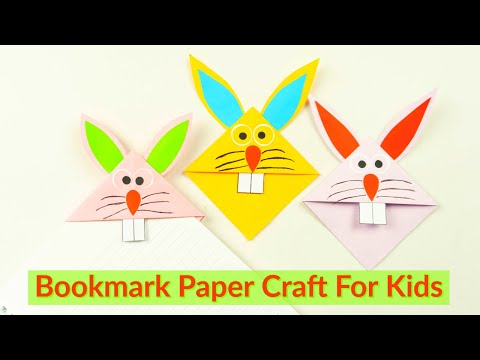 Easy Bunny Corner Bookmark Paper Craft For Kids