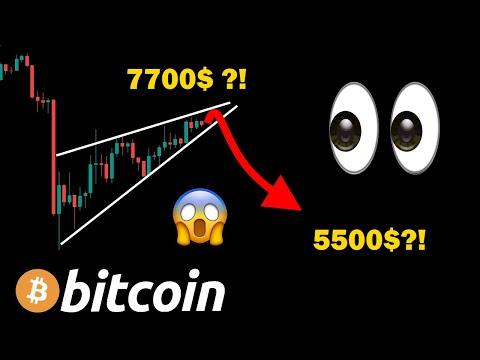 BITCOIN 7700$ OBJECTIF FINAL AVANT LA CHUTE ?! Analyse Bitcoin Btc Crypto Monnaie Fr