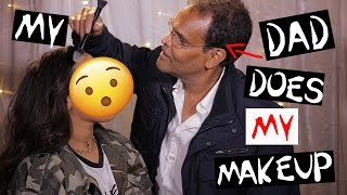 My INDIAN DAD does MY MAKEUP! FUNNY/SURPRISE!! NikkisSecretx