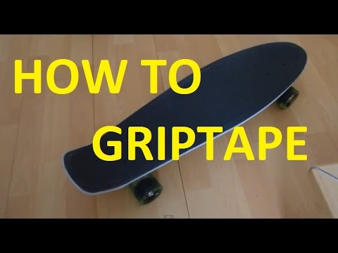 How to apply griptape on your Penny Board- SIMPLE AND EASY - YouTube