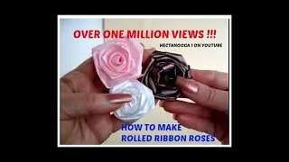 HOW TO MAKE ROLLED RIBBON ROSES- fabric flowers http://www.favecraf...
