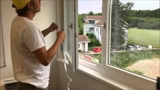 Klimagerät mobile, Fensterdurchführung