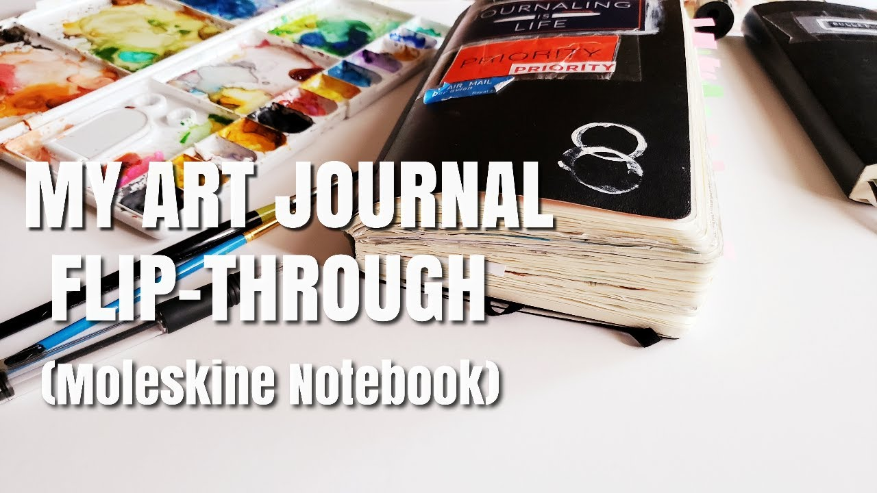 How To Art Journal (For Beginners)- 10 Easy Ideas w/Flip Through!