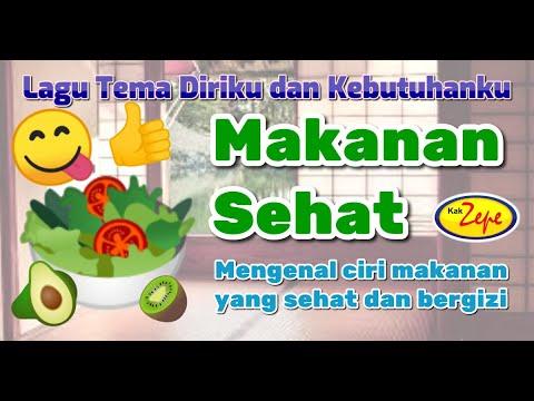 Makanan Sehat Lagu Anak Tema Makanan Dan Gizi Indonesia
