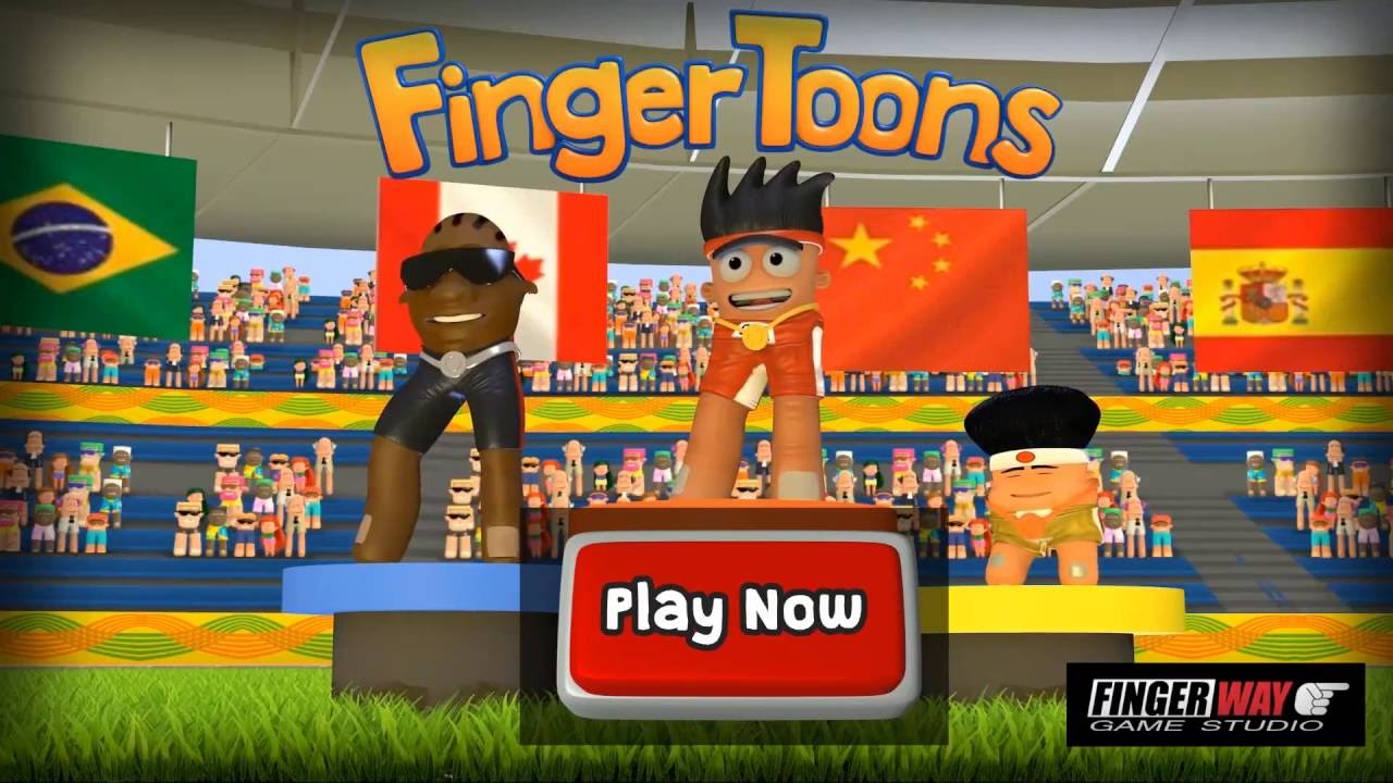 finger toons ios u0026 android track u0026 field sports game youtube