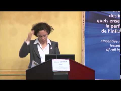 Cécile George (CRE) presentation during ARAF economic conference in Paris, May 26 2014