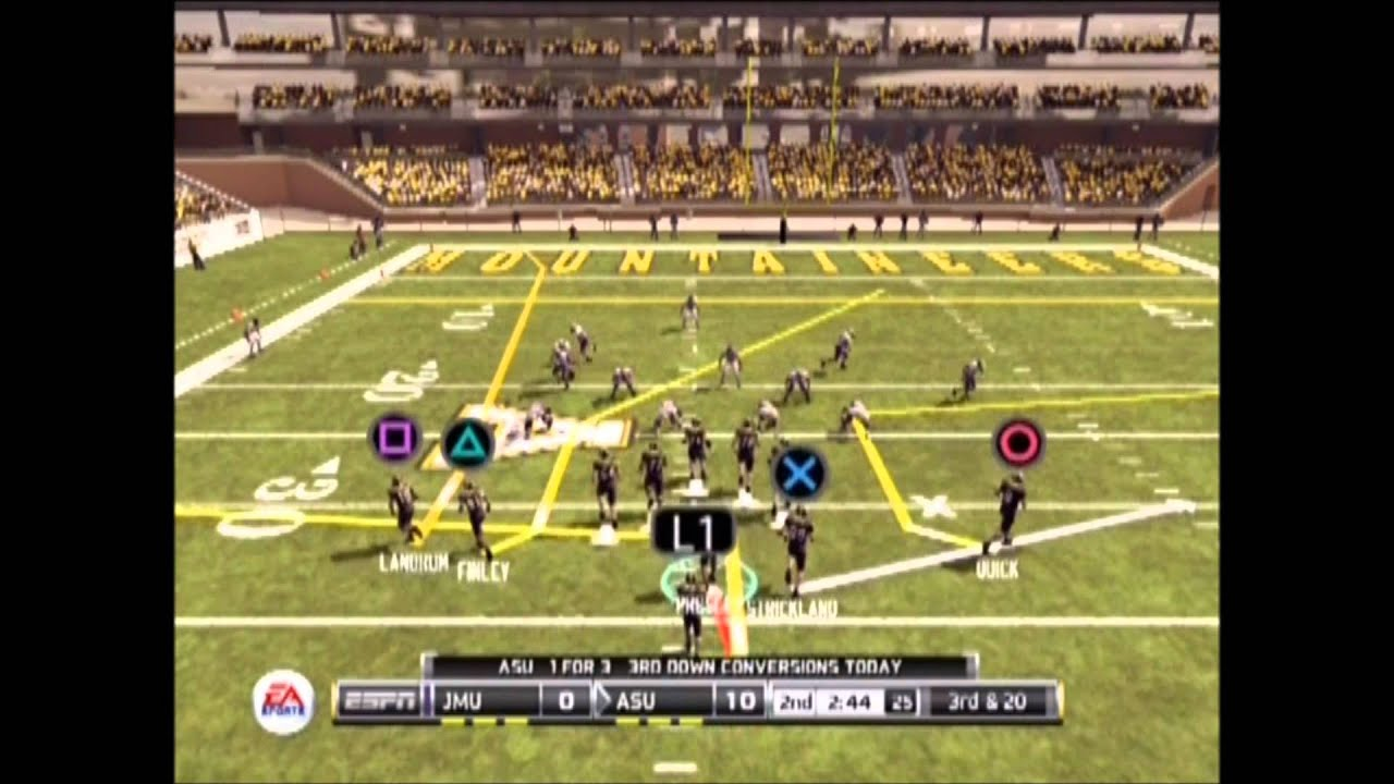 Ncaa Football 12 Fcs Tournament Applachian State Vs Jmu Youtube